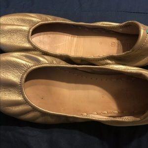 Gold Tieks Flats